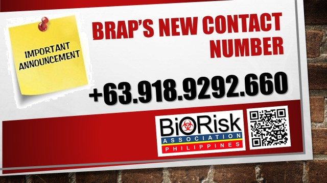 BRAP's new contact number