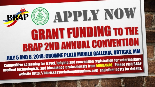 BEP grant funding to the BRAP 2nd Annual Conv
