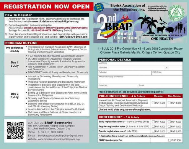 BRAP 2nd Annual Convention Flier and RegForm