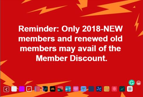 Reminder Member Dscount