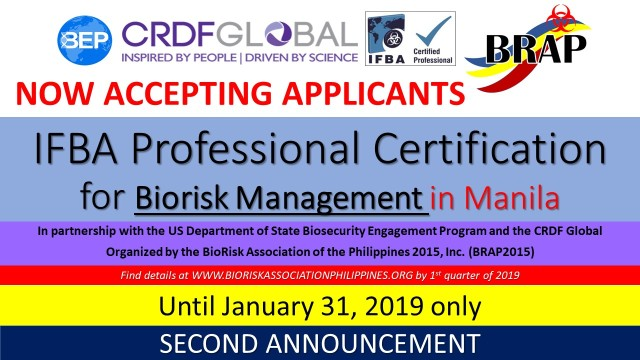 2ND ANNOUNCMENT IFBA Professional Certification